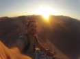 Sol poente do deserto
